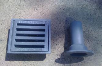 Guri de scurgere din fonta pentru poduri T1G1 350X350 MM CU PALNIE DE EVACUARE