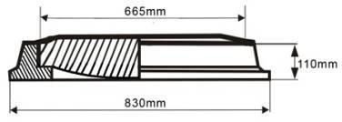 Capac cu rama rotunda clasa С-250 - Capac cu rama rotunda clasa С-250