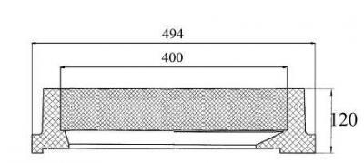 Capac patrat cu dimensiuni la interior de 400 mm x 450 mm clasa C-250 - Capac patrat cu dimensiuni la interior de 400 mm x 450 mm clasa C-250