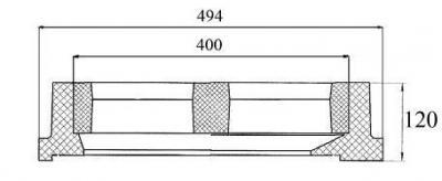 Gratar tip Geiger cu dimensiuni la interior de 400 x 450 mm clasa B-125 - Gratar tip Geiger cu dimensiuni la interior de 400 x 450 mm clasa B-125